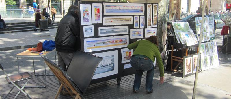 kunst op las ramblas barcelona