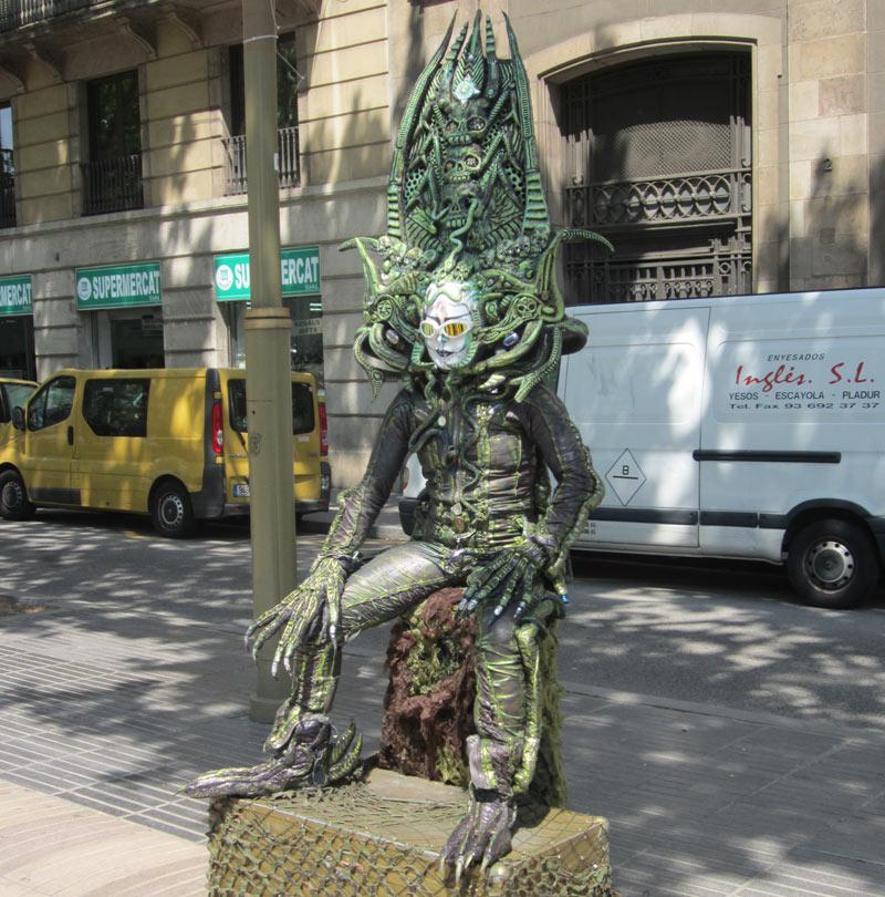 menselijk standbeeld