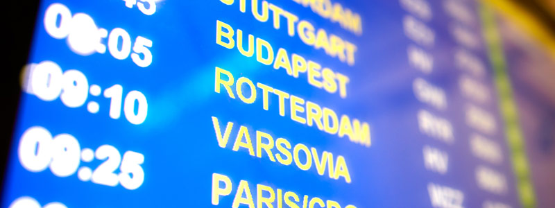Vliegen van Rotterdam naar Barcelona