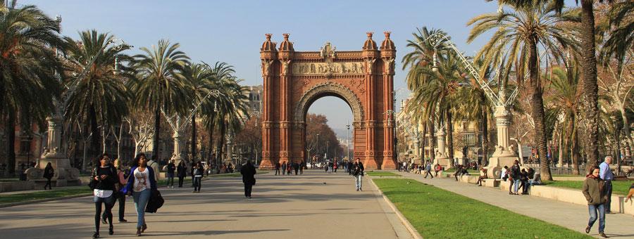 zonnige dag barcelona
